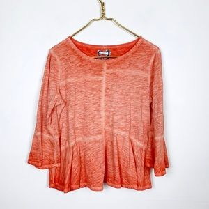 Anthropologie Akemi + Kin Bell Sleeve Burnout Top